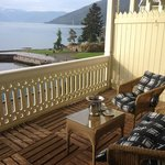 Our lovely wooden balcony!