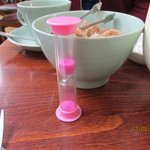 pink timer for tea perfection....