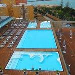 Vistas de las piscinas desde la habitación