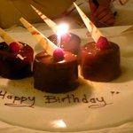 birthday surprise from hotel staff