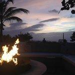 outdoor resort area