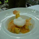 Ananas rôti avec sorbet exotique