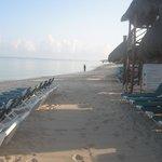 THe beach at 7:00 AM