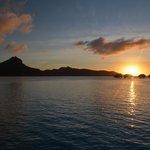 il tramonto dall'Overwater