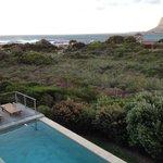 View of the pool from room 4 Pan - Honeymoon Suite