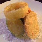 Veggie tempura appetizer