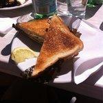 Sandwich au saumon et fromage frais