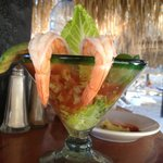 Mmm.. Shrimp cocktail & happy hour all day long!!