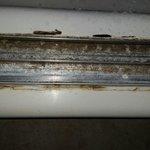 Shower door rail, couldn't slide door.