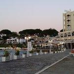 terrasse de la plage de l'hôtel