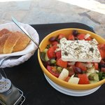 Lisa's Greek Salad - all homegrown!