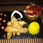 Pollo en tempura. Delicioso!!