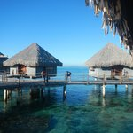 The beautiful, over-water huts