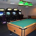 Arcade & pool table