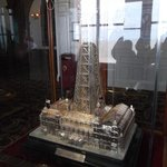 Blackpool Tower in silver
