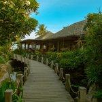 Deva Resort & Spa Koh Samui的通往餐廳路上