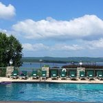 lake view from poolside at Chateau on the Lake. August 10.2014