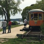 End of trolley line at Hudson River