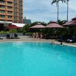 zwembad Novotel op 7e verdieping