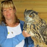 Saphira the eagle owl. Heavy!