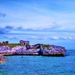 Xaac Bay Maya lighthouse ruins