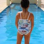 Daughter at lap pool
