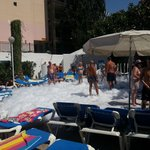 Mini Foam party on first day