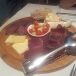 Dry sausage and cheese platter for two (entree)