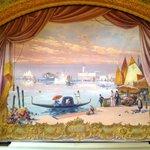 original painted curtain