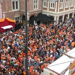 View from room-celebration of King's Day