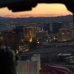 View from the Helicopter facing The Strip