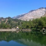 Zaros Lake, about 5-10 minute walk from the hotel