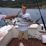My son caught this huge Rooster fish while deep sea fishing August 14, 2014, Peninsula Papagayo!