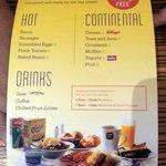 Hotel-Menú desayuno
