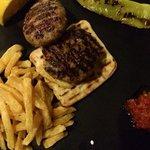 Greek burger (bifteki). Delicious and light.