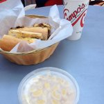 Campo's Mac and cheese and a cheesesteak