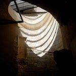 soleil dans anciens escaliers