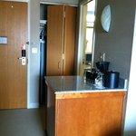 Coffee bar and closet