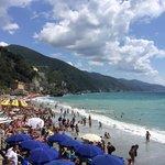 The beach in monterosso