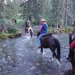 Crossing the Creek at Sundance Lodge
