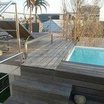 Hotel deck/pool area