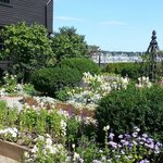 Garden at the house of the seven gables