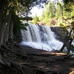 Gooseberry Falls , walking the trails.