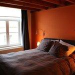 Orange room-queen bed