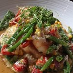 Grilled Shrimp & French Green Beans