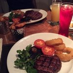 Rib eye and fillet steaks