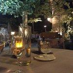 dîner au restaurant du Mas d'Entremont coté terrasse