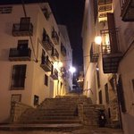 nightime street views. Inside the castle