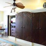 Bedroom dresser and TV