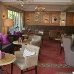 Lounge, in der auch das Mittagsbuffet angeboten wird
